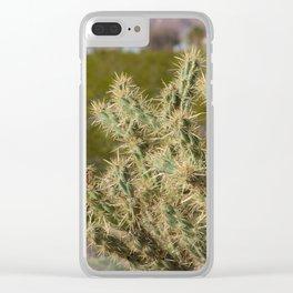 Winter Cactus Clear iPhone Case