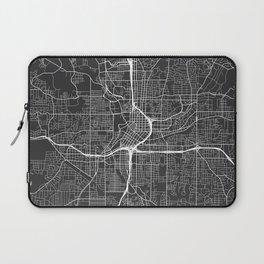 Atlanta Map, USA - Gray Laptop Sleeve