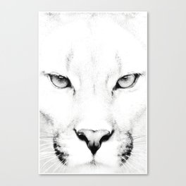 White Puma Print Canvas Print