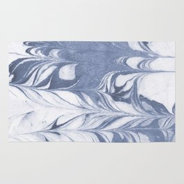 Setsuko - spilled ink marble abstract watercolor painting marbling japanese wave pattern Rug