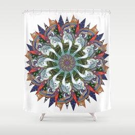 Amalthea the Last (Mandala) Shower Curtain