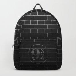 Platform 9 3/4 Black Brick Wall Backpack