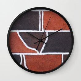 Stone wall colour 5 Wall Clock