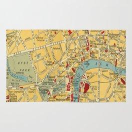 Vintage map of Central London Rug