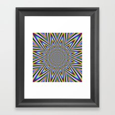 Psychedelic Star Framed Art Print