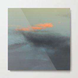 Three orange clouds Metal Print
