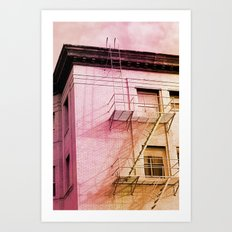 Fire Escapes Art Print