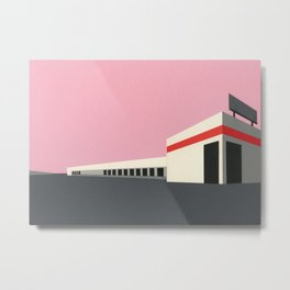 Sunset Warehouse Metal Print