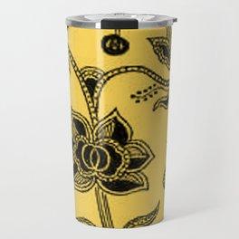 Vintage Floral Primrose Yellow Travel Mug
