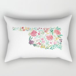 Bloomin' Oklahoma Rectangular Pillow