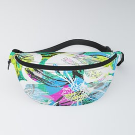 Blue and White Daisy Fanny Pack