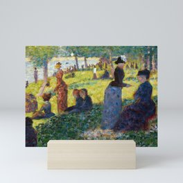 "Georges Seurat ""Oil Sketch for La Grande Jatte"" Mini Art Print"