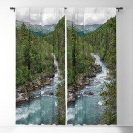 Alaska River Canyon - II Blackout Curtain