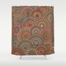 Mandala Mania-Vintage colors Shower Curtain