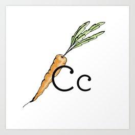 Fruit + Veggie Alphabet: Carrot Art Print