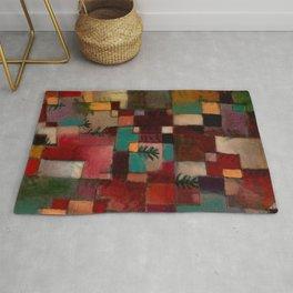 "Paul Klee ""Redgreen and Violet-Yellow Rhythms 1920"" Rug"