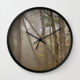 Misty Spruce Knob Forest Wall Clock