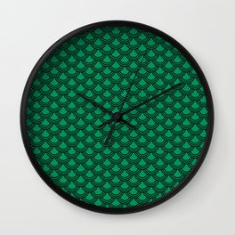 Chinese Scales Green Dragon Wall Clock