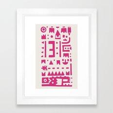 Pattern v8 Framed Art Print
