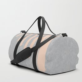 Blush stripes on concrete Duffle Bag