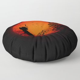 My Love Japan / Samurai warrior Floor Pillow