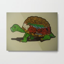 Tagged Turtle Metal Print