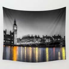 Westminster At Night Wall Tapestry