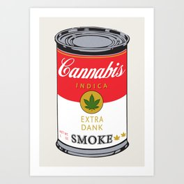 Campbell's Soup (Cannabis Indica) Art Print