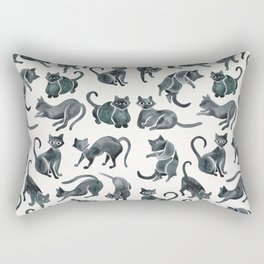 Cat Positions – Black Palette Rectangular Pillow