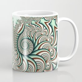 Owl Fractal Chocolate Mint Coffee Mug