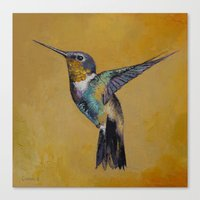 hummingbird Canvas Prints featuring Hummingbird by Michael Creese