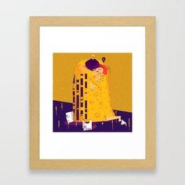 Der Kuss, actual love. Framed Art Print