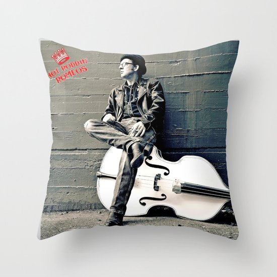 Rockin' Billy Burns Throw Pillow
