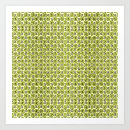 Green Leaf Pattern Art Print