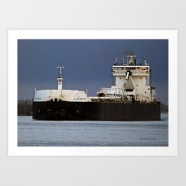h lee white freighter art print