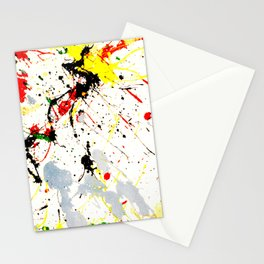 Paint Splatter Stationery Cards