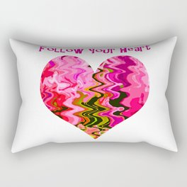 Follow your heart pink Rectangular Pillow