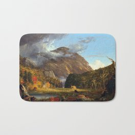 Thomas Cole A View of the Mountain Pass Called the Notch of the White Mountains (Crawford Notch) Bath Mat