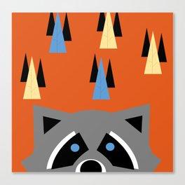 Orange Racoon Canvas Print