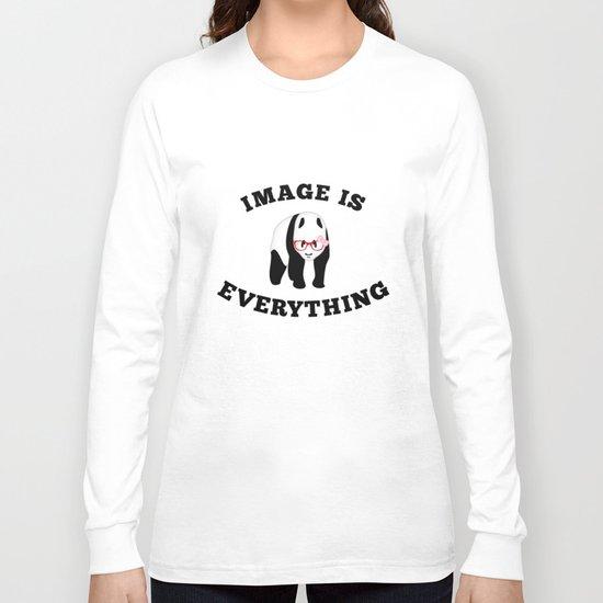 Panda Hipster Long Sleeve T-shirt