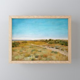 William Merritt Chase - First Touch Of Autumn - Digital Remastered Edition Framed Mini Art Print