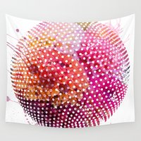 dots Wall Tapestries featuring Dots by Dnzsea
