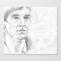 sherlock Canvas Prints featuring Sherlock by Amanda Powzukiewicz