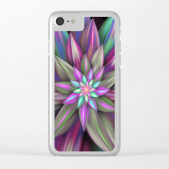 Exotic flower Clear iPhone Case