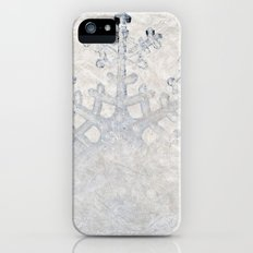 Snowflakes frozen freeze Slim Case iPhone (5, 5s)