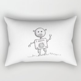 Piggy Bot Rectangular Pillow