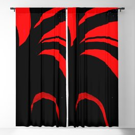 Abstract Red Blackout Curtain