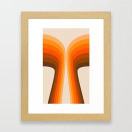 Golden Wing Framed Art Print