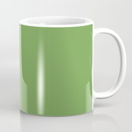 Soft Warm Grass Green - Solid Plain Block Colors - Nature / Earth / Earthy Colours / Moss / Trees / Forest / Cottagecore / Goblincore Coffee Mug