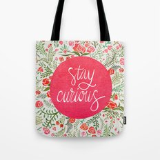 Stay Curious – Pink & Green Tote Bag